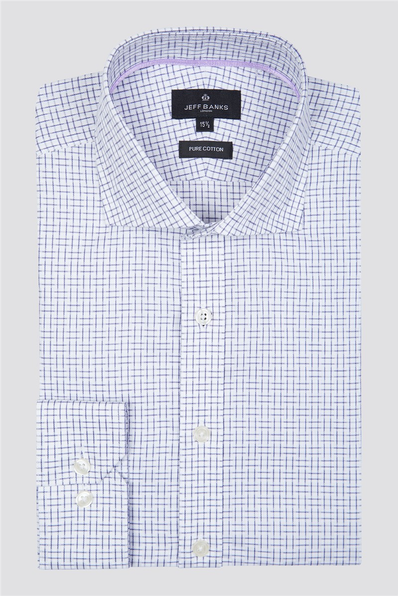London White Squares Check Shirt
