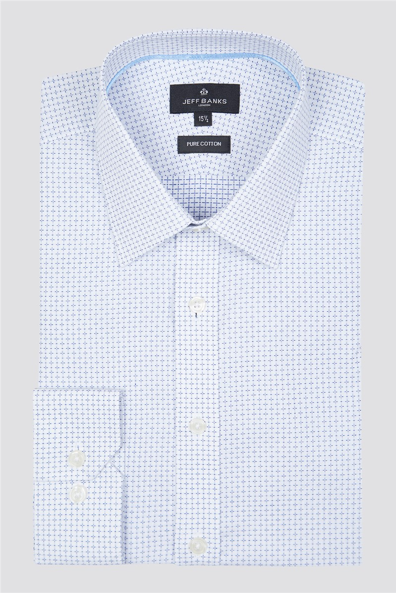 London White Cross Dobby Shirt