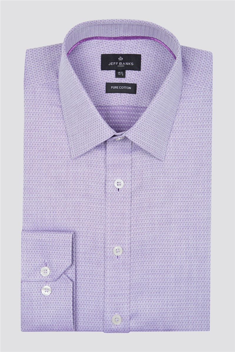 London Lilac Diamond Dobby Shirt