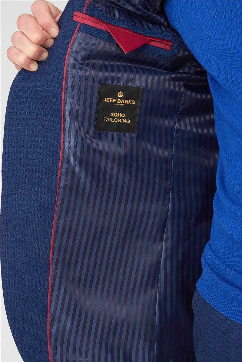 Blue Texture Regular Fit Waistcoat
