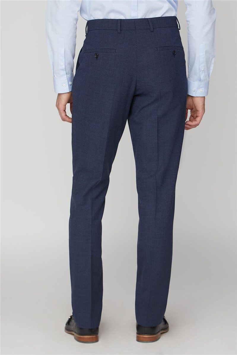 Navy Airforce Texture Travel Suit Trouser