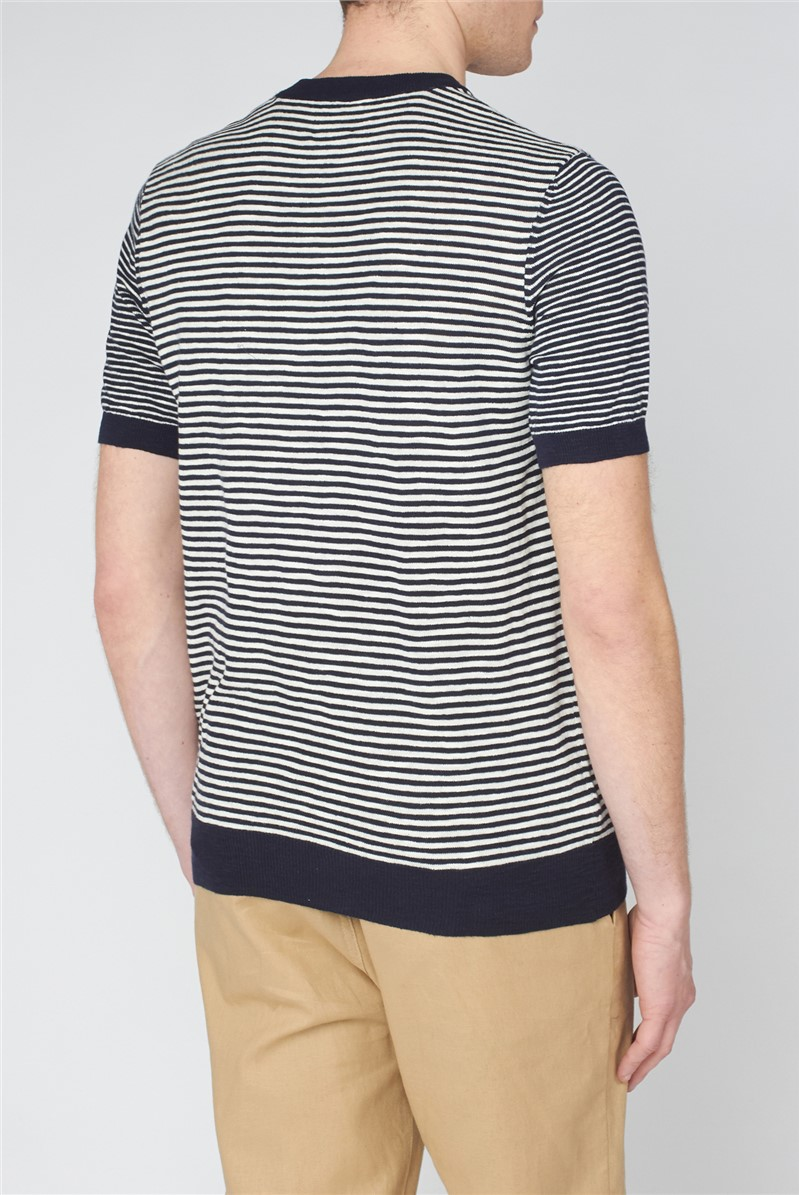 Stripe Knitted T-Shirt