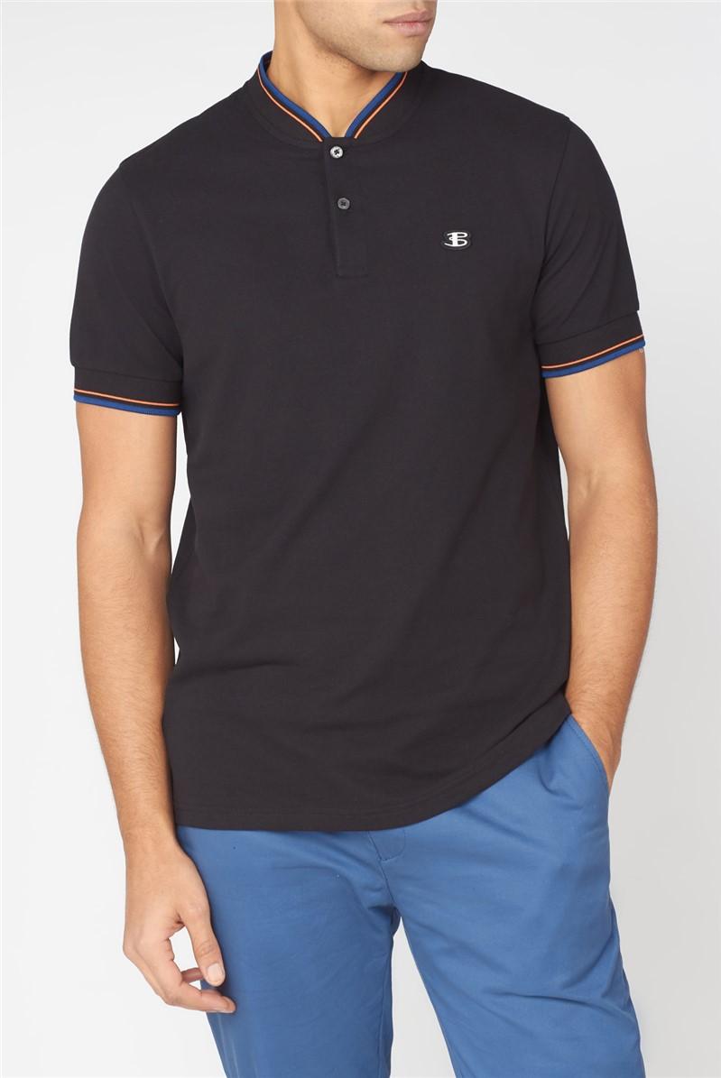 B by  Baseball Collar Polo Shirt