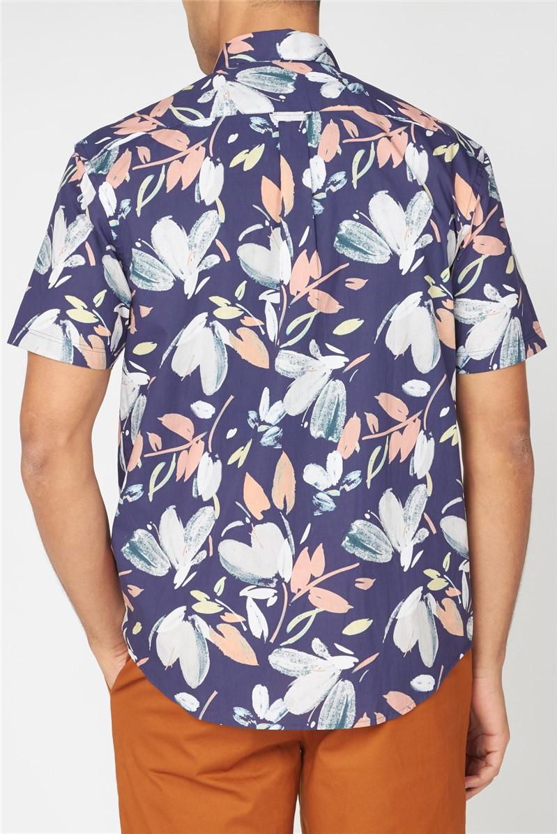 Hand Drawn Floral Print Shirt