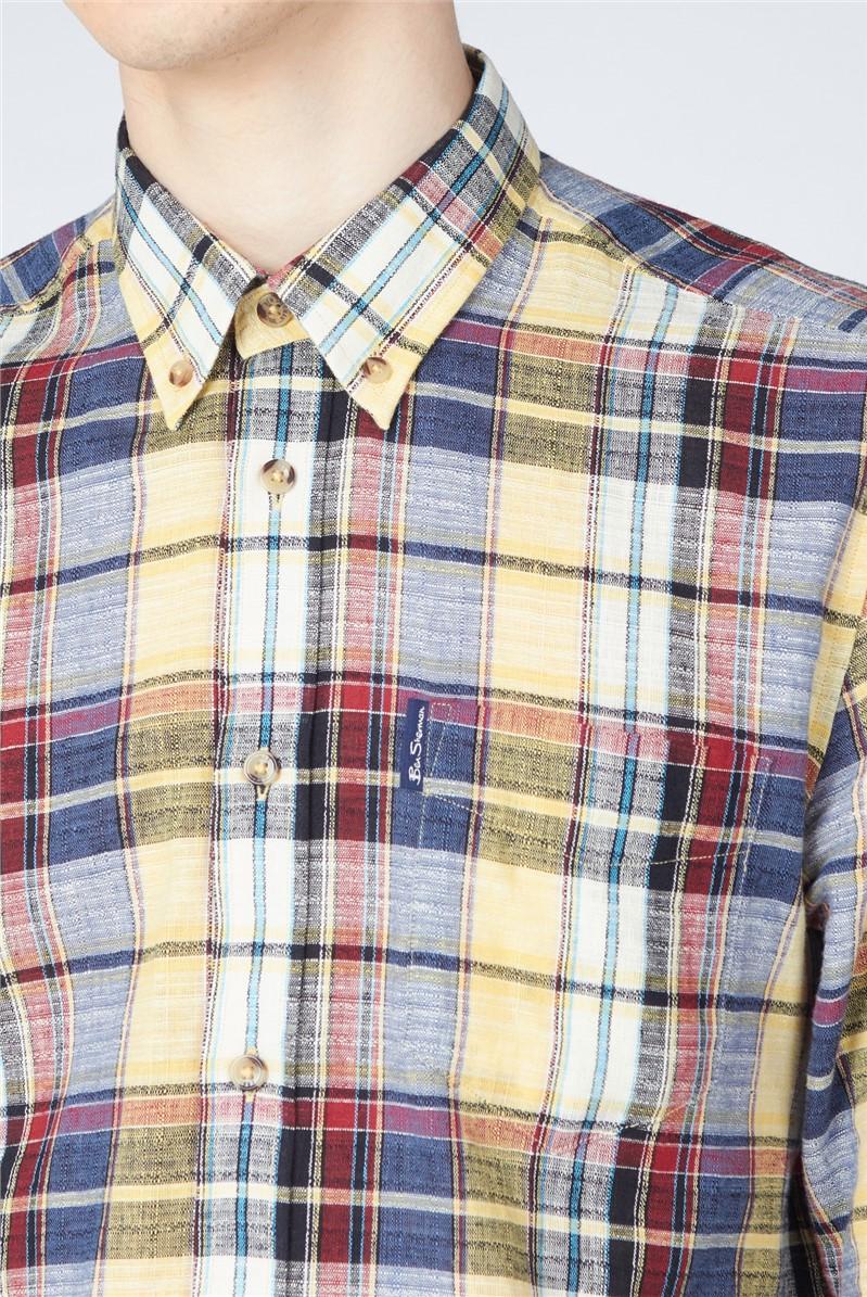 Slub Madras Check Shirt
