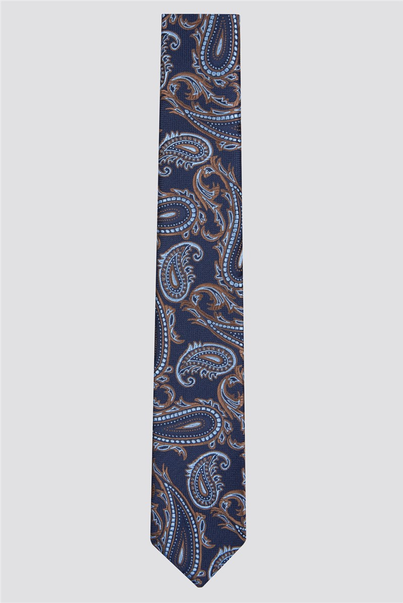 Limehaus Burnt Orange Paisley Tie
