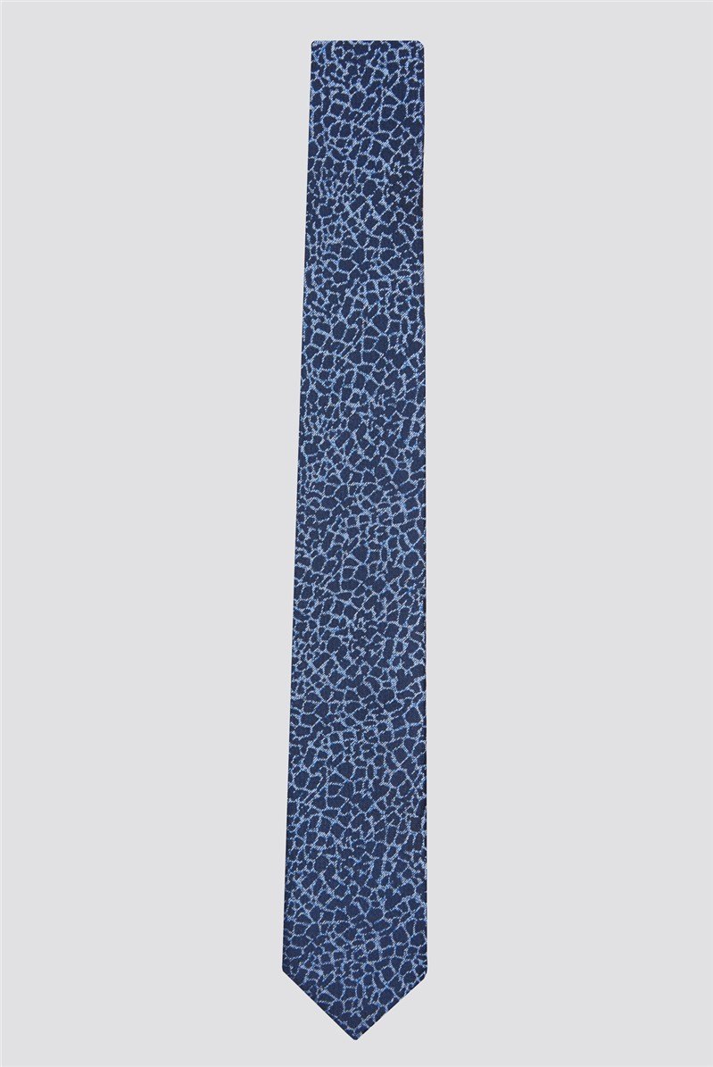 Navy Petals Tie
