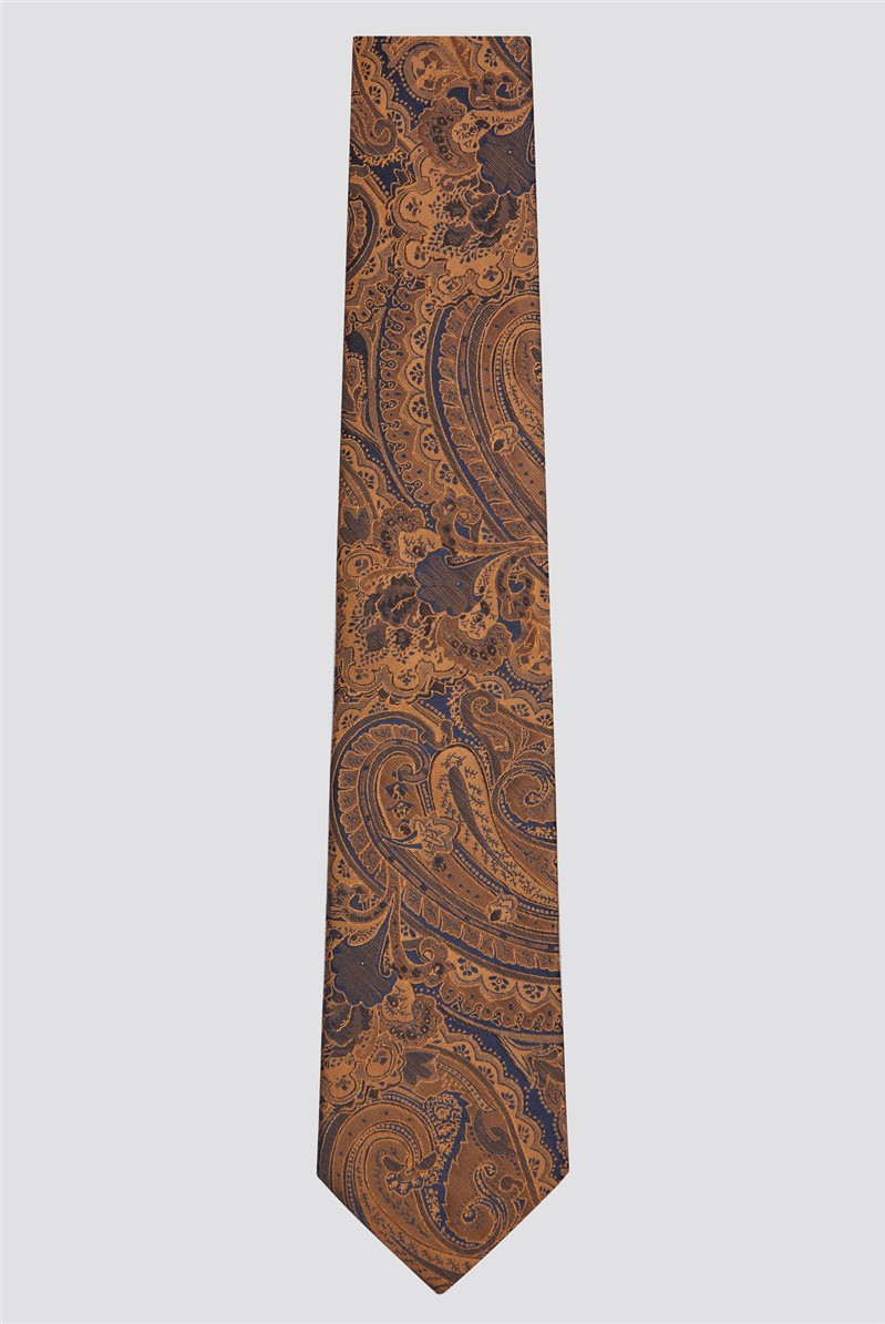 Scott & Taylor Bronze Tonal Paisley Tie