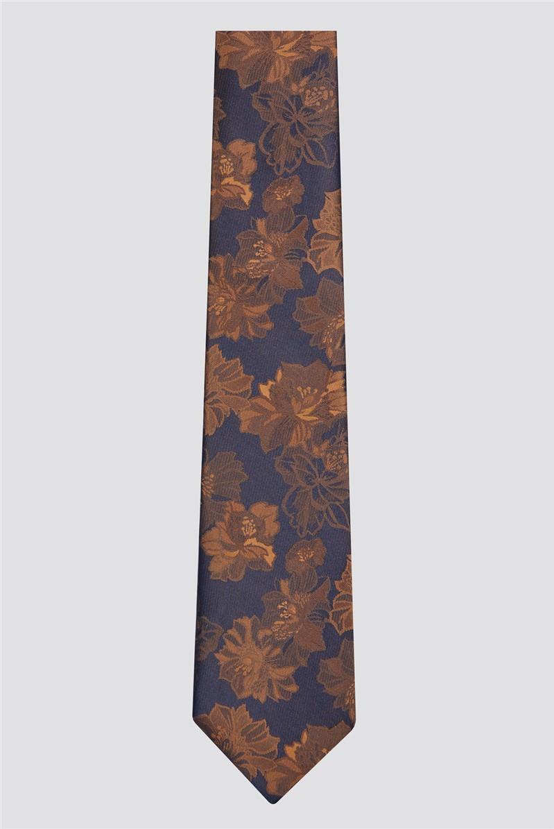 Scott & Taylor Bronze Tonal Floral Tie
