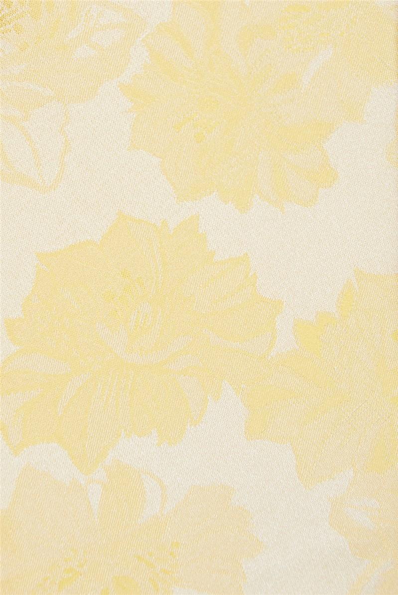Yellow Tonal Floral Tie
