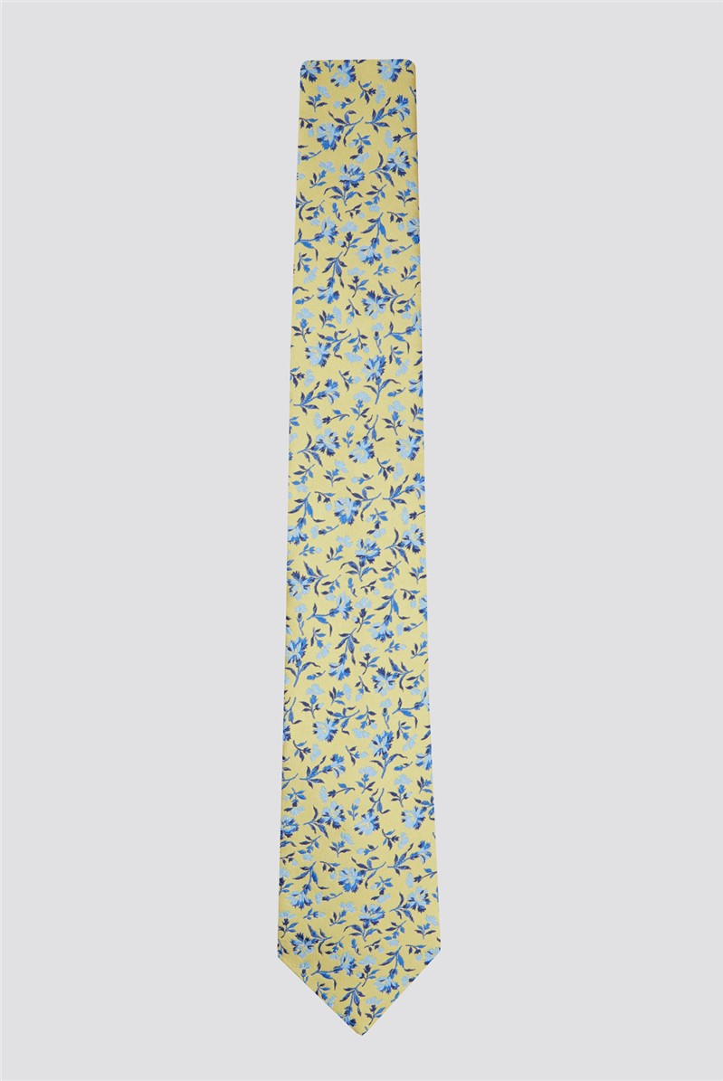 Gold Small Floral Tie