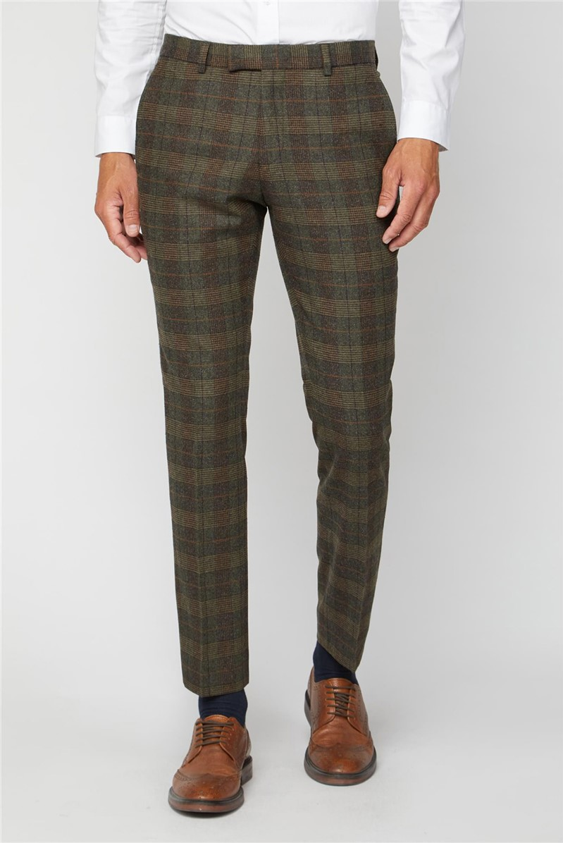 Tweed Heritage Check Suit Trousers