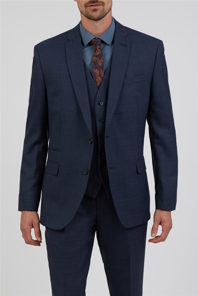Dark Airforce Hopsack Tailored Suit Trouser