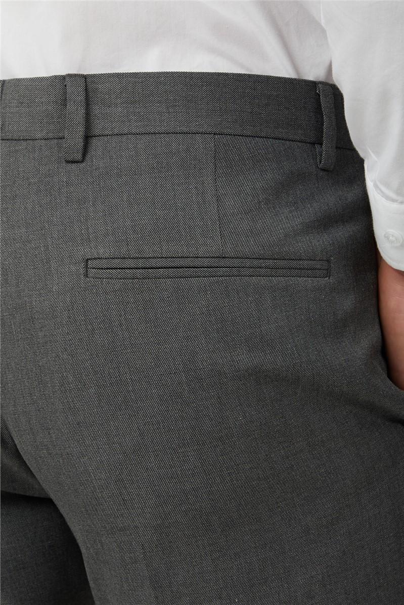 Grey Melange Slim Trousers