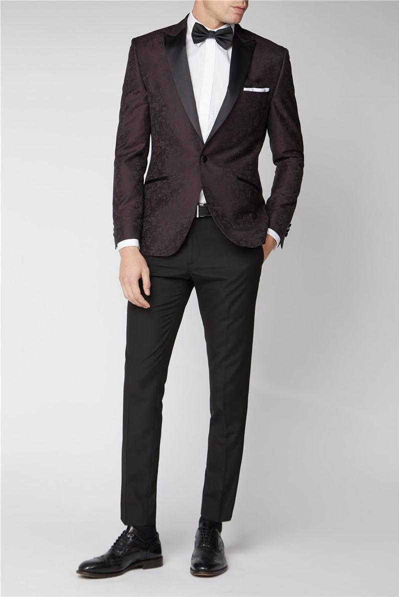Burgundy Floral Jacket