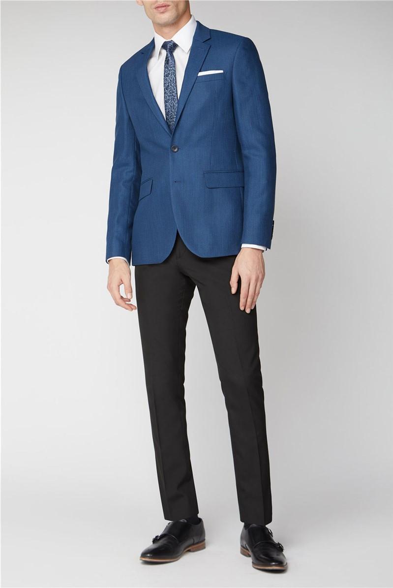 Blue Grid Texture Jacket