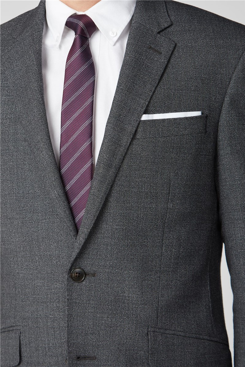 Branded Charcoal Semi Plain 2 Piece Suit Suitdirect Co Uk
