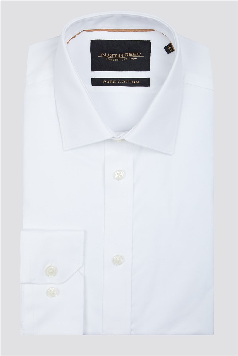 Branded White Twill Fabric Cotton Shirt Suitdirect Co Uk