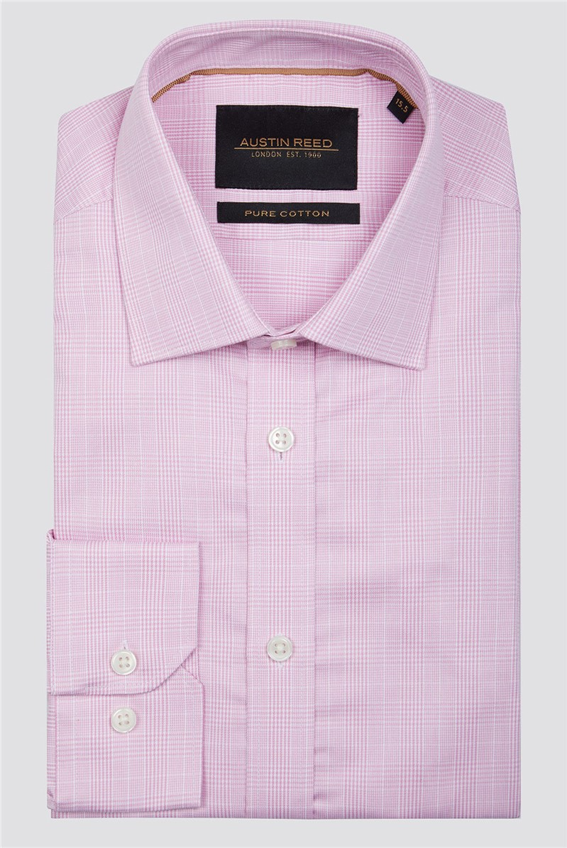 Pink Prince of Wales Check Shirt