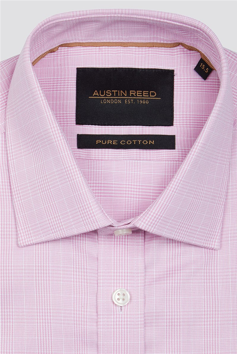 Branded Pink Pow Checked Button Up Shirt Suit Direct