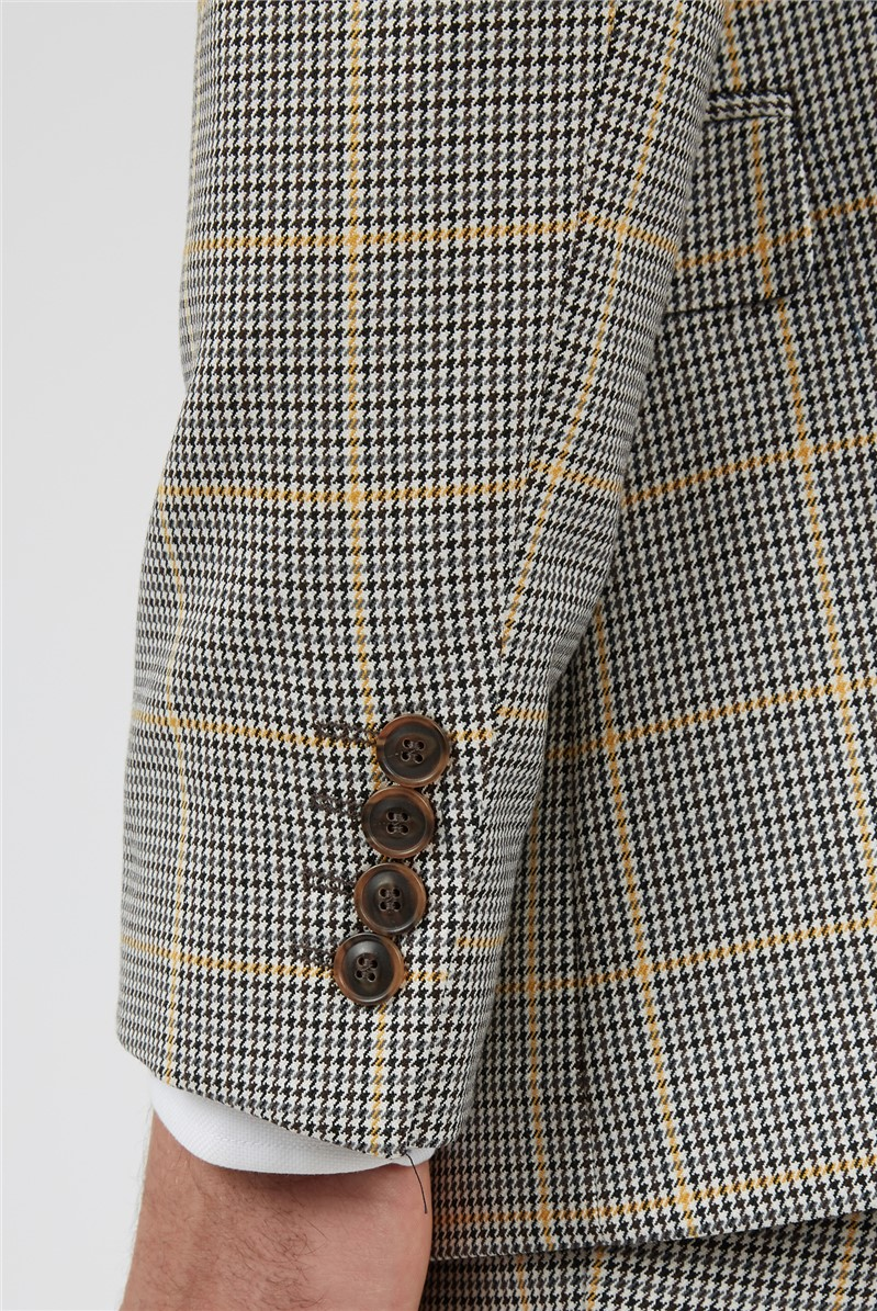 Slim Fit Heritage Mustard Check Two Piece Suit