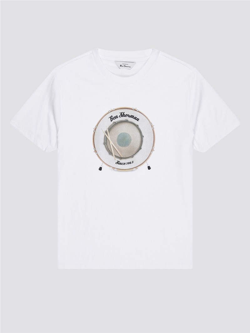 White Drum Target Graphic Tee