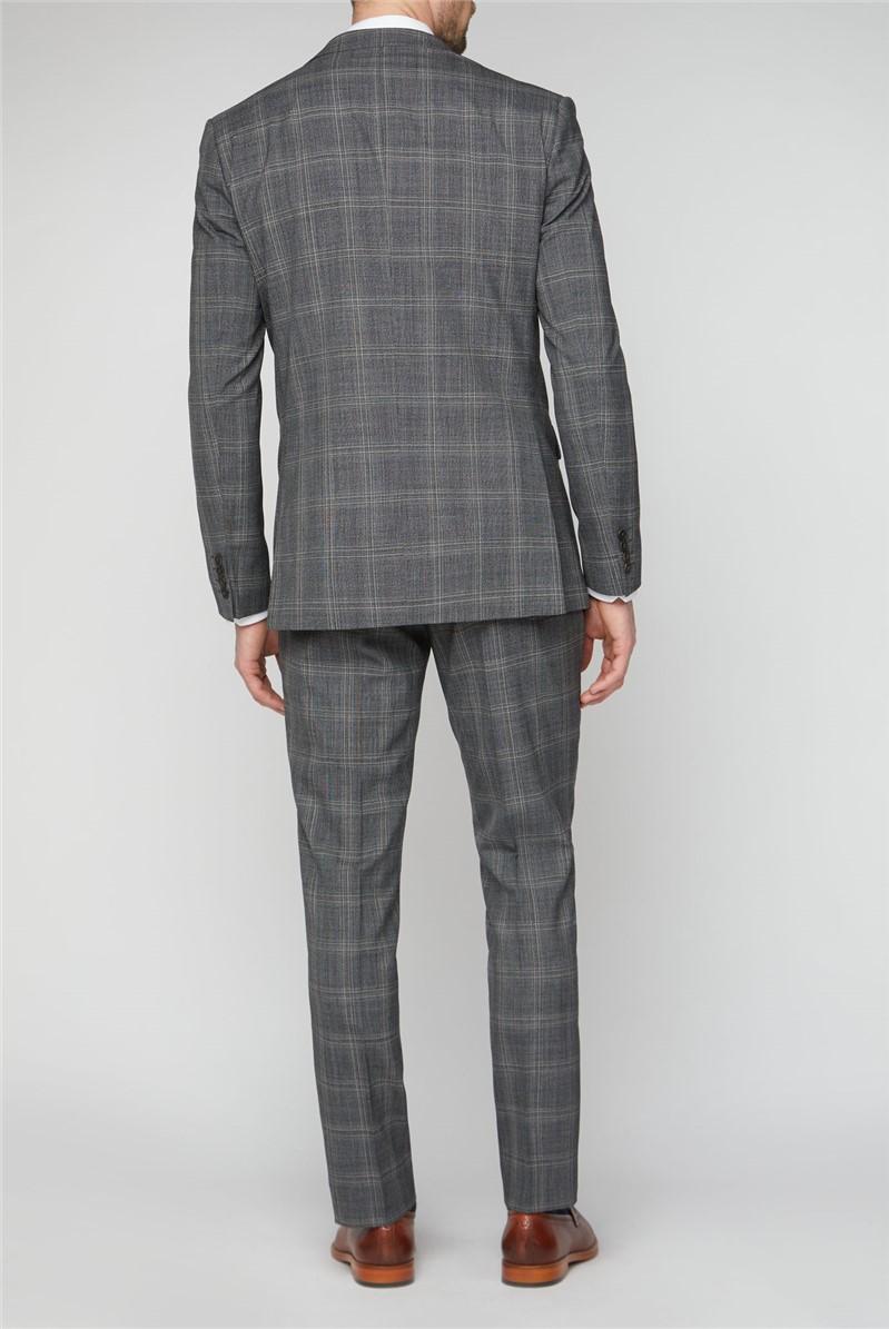 Grey Jaspe Check Soho Regular Fit Suit Trousers