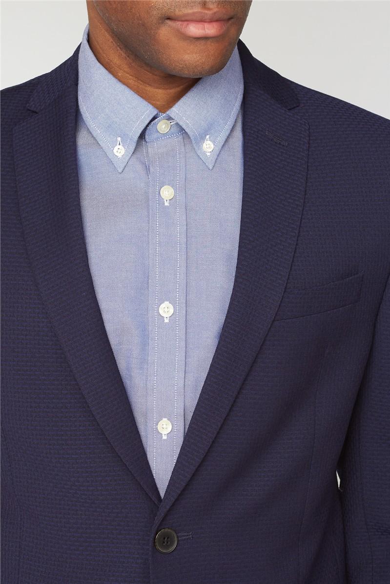 Deep Blue Structure Suit Trousers