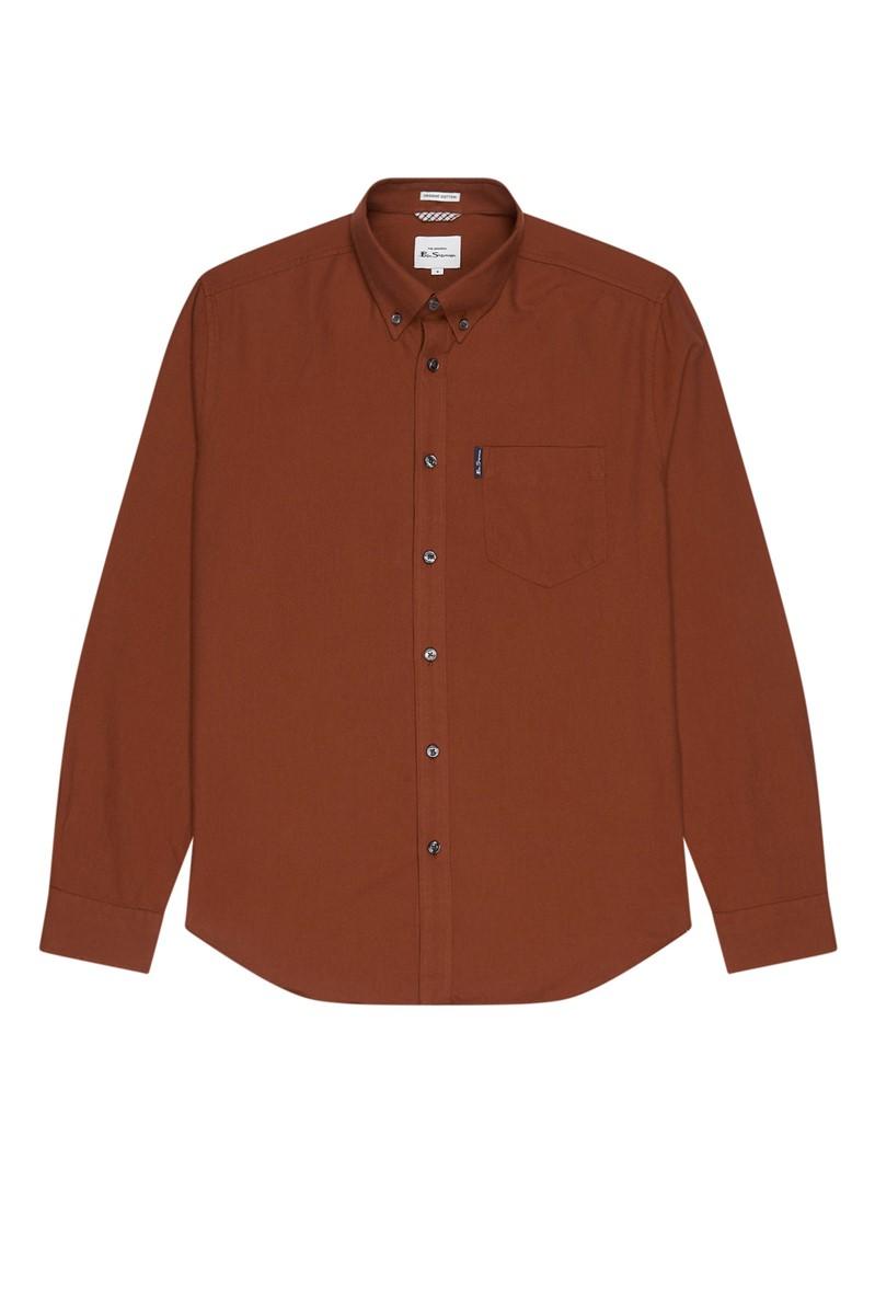 Burnt Orange Organic Cotton Oxford Shirt