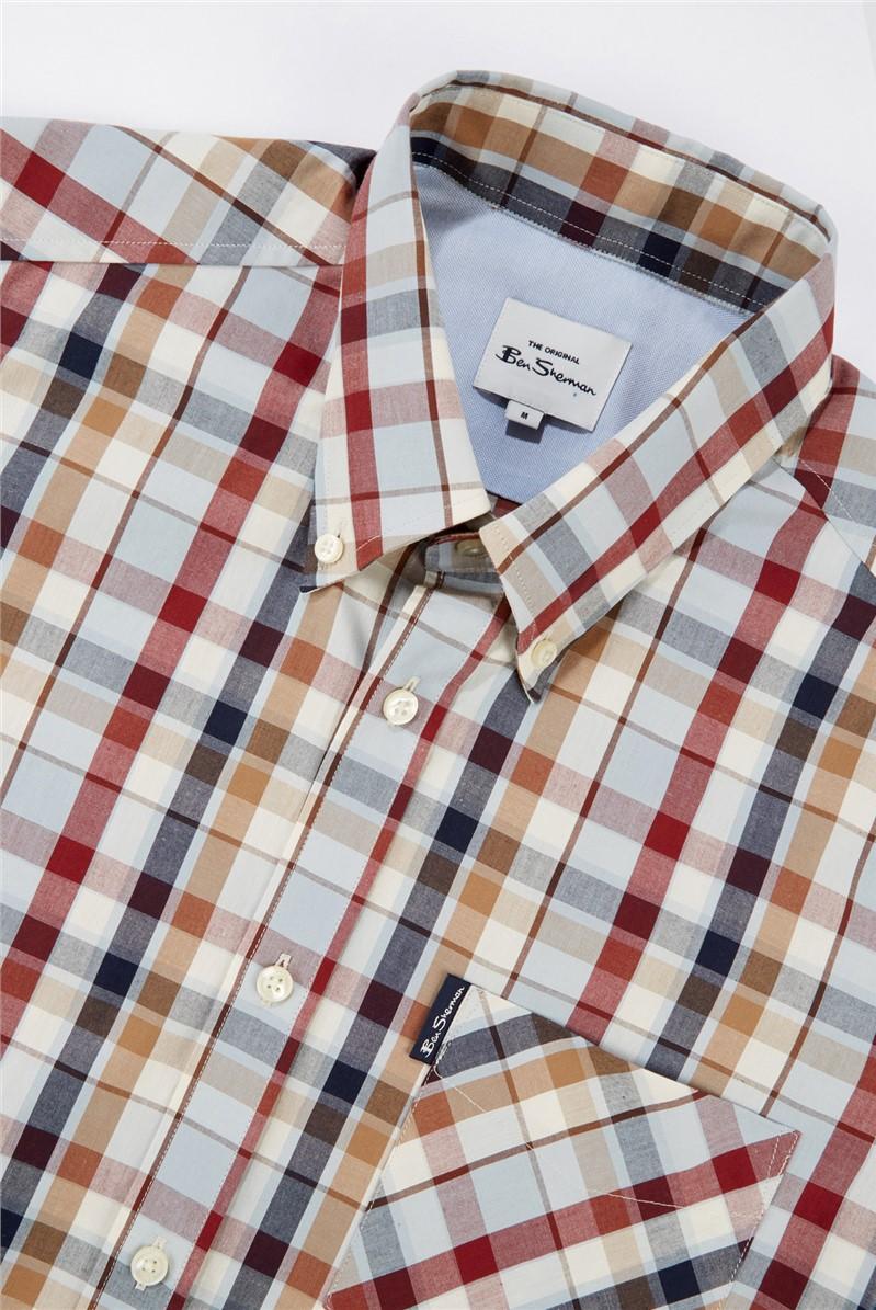 Madras Light Blue Checked Shirt