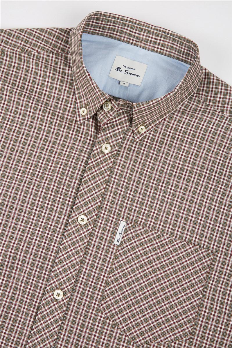 Mini Mod Hemp Checked Shirt