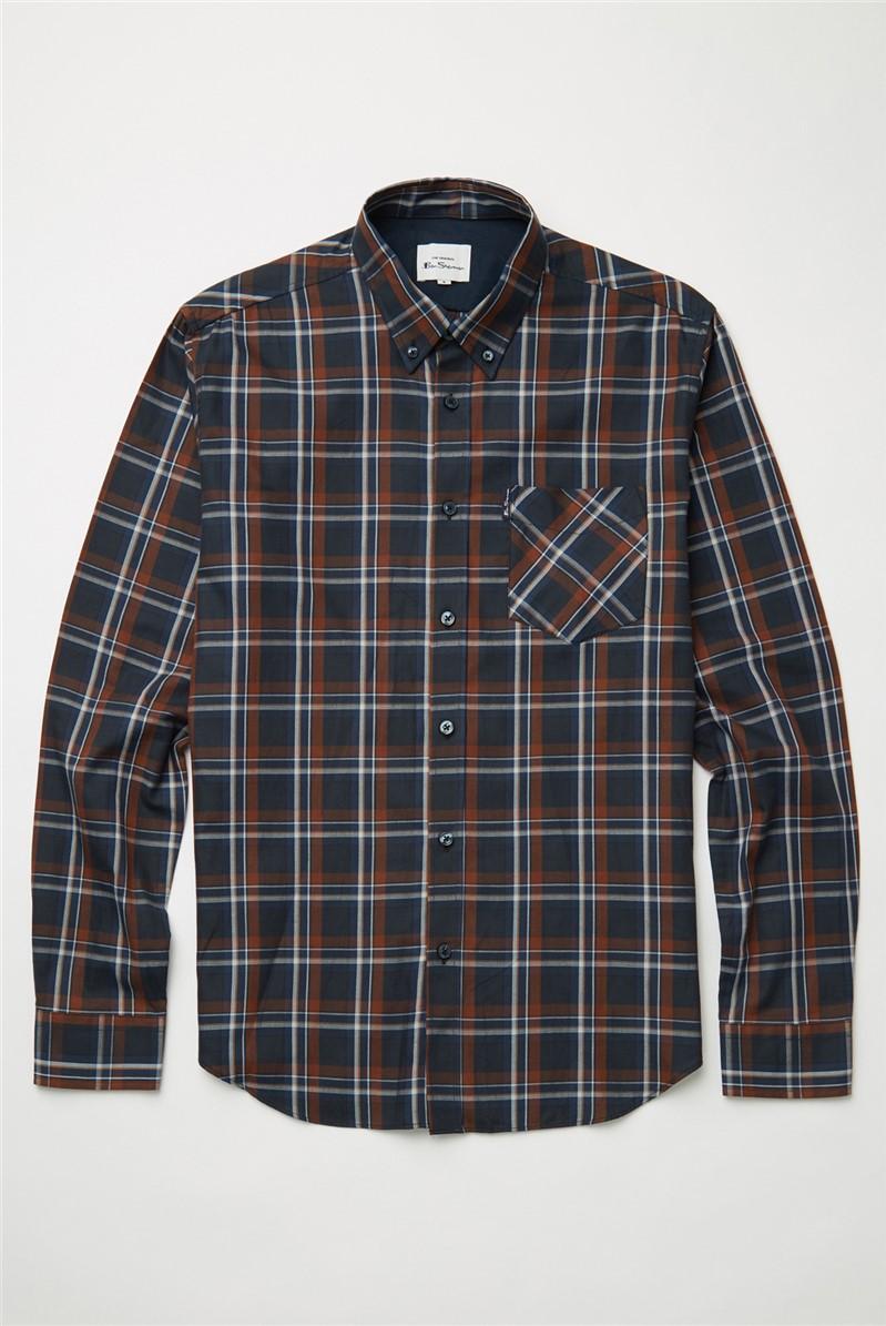 Midnight Winter Madras Checked Shirt