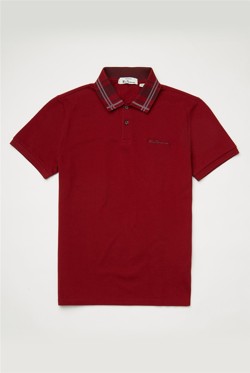 Red Collar Interest Polo Shirt