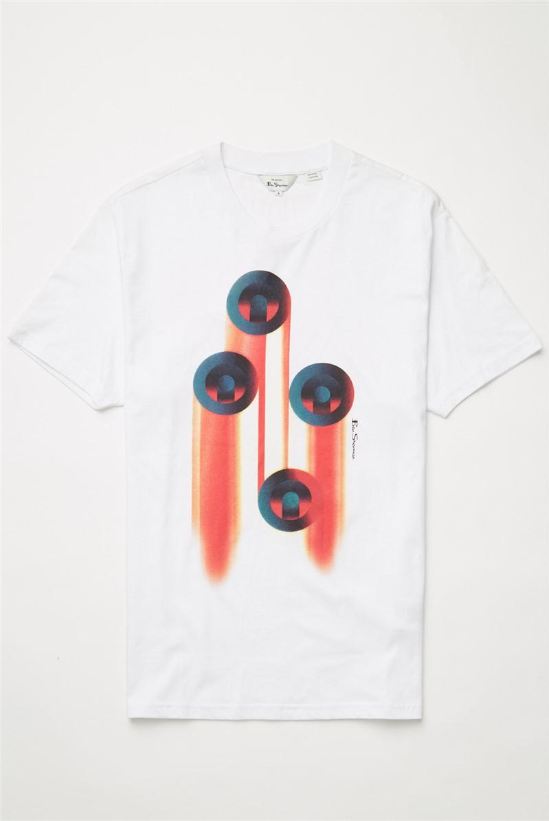 White Target Art T-Shirt