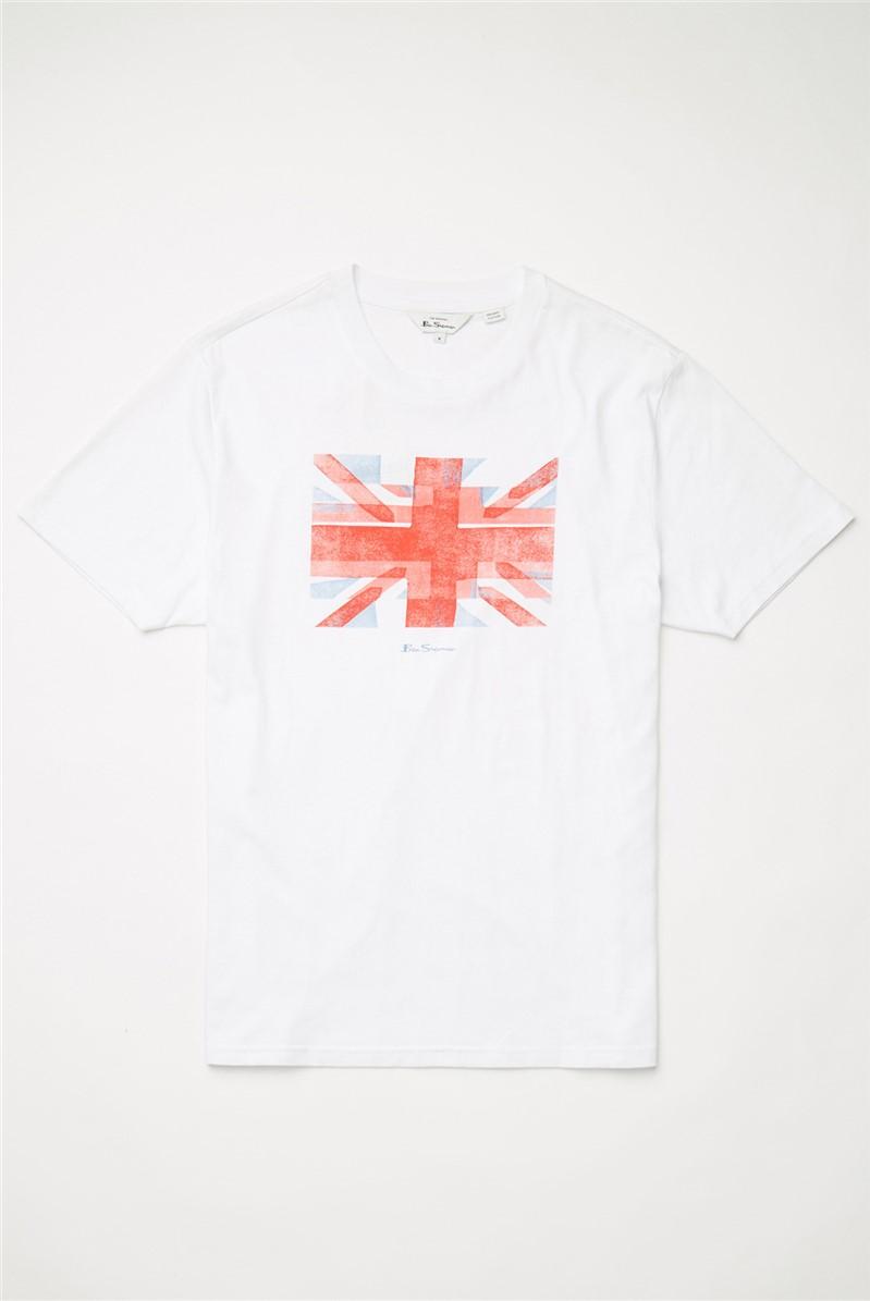 White Painted Union Jack T-Shirt