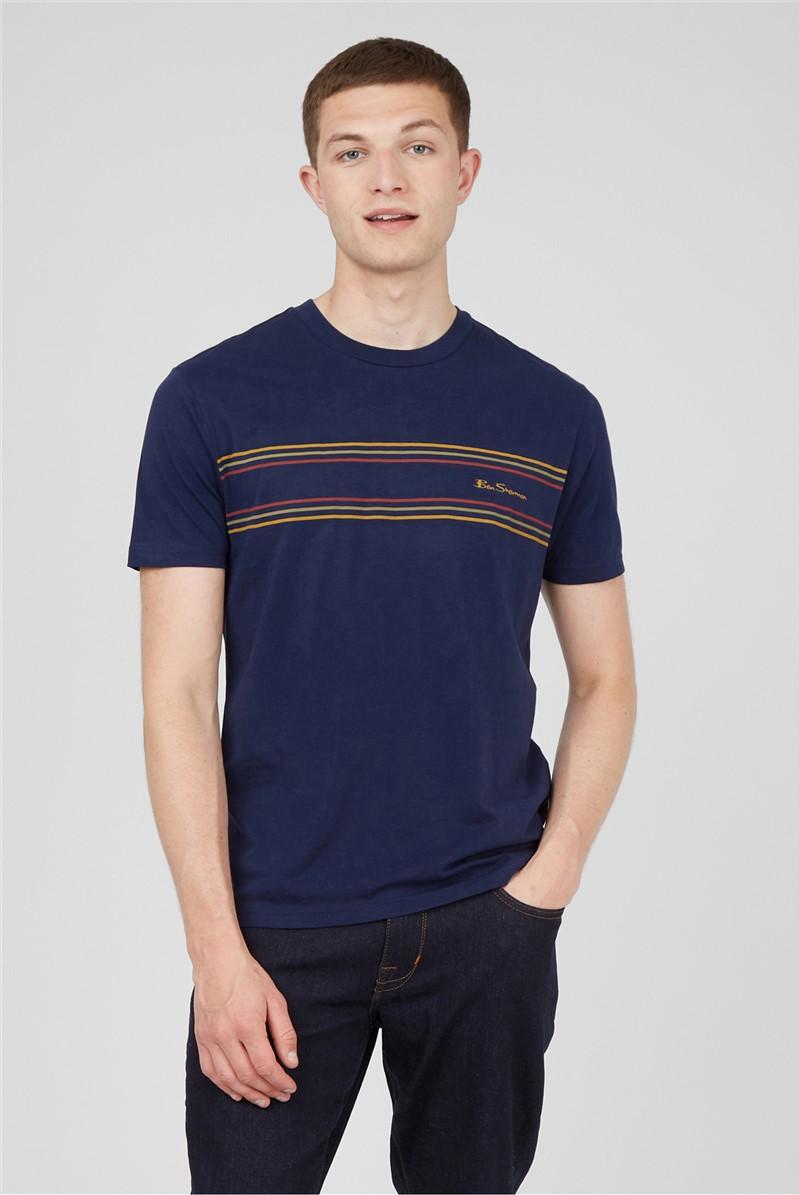 Marine Chest Stripe Logo T-Shirt