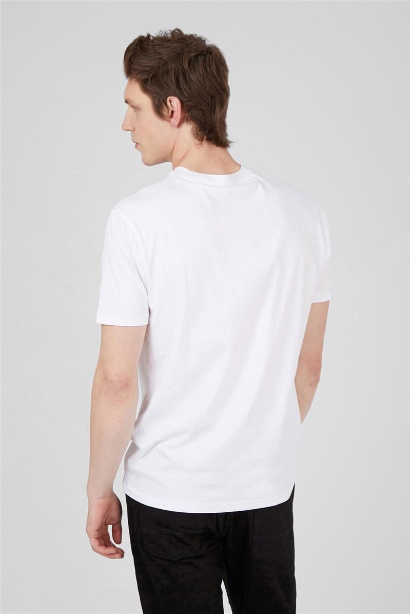 White Radio Stripe T-Shirt