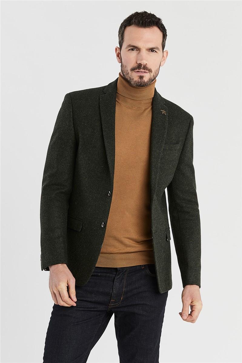 Forest Green Slim Fit Jacket