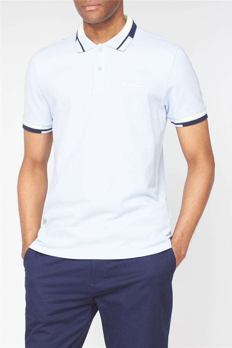 Colour Block Collar Pique Polo Shirt