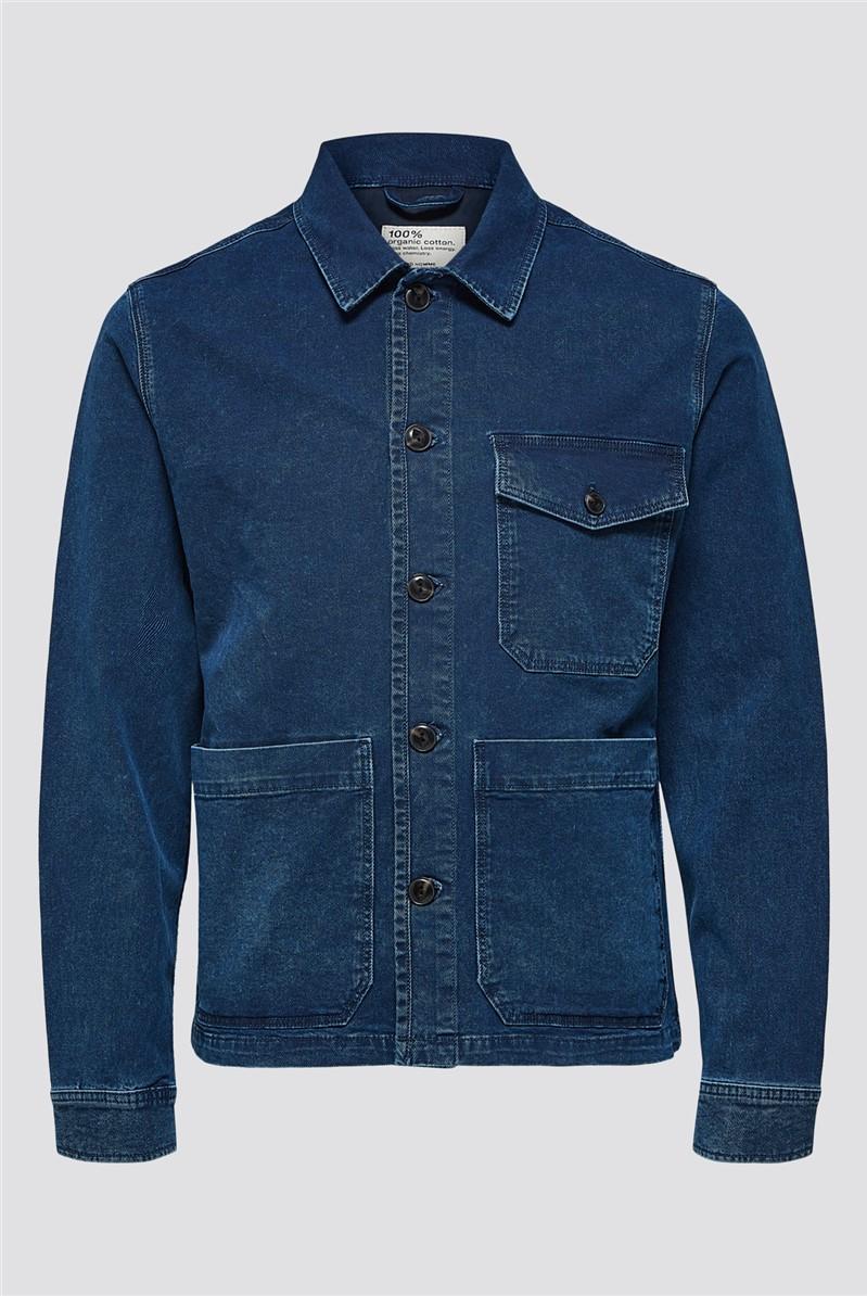 Harry Denim Jacket in Blue Wash