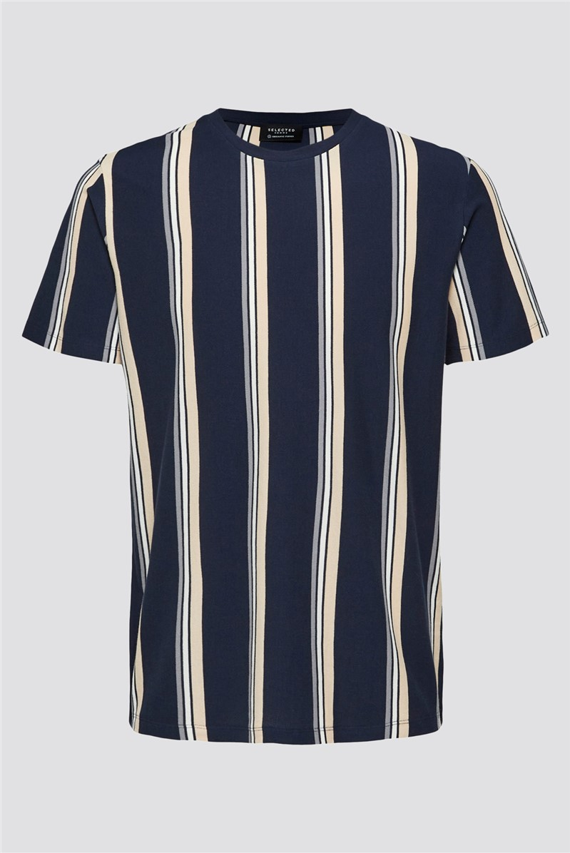 Striped T-shirt in Navy