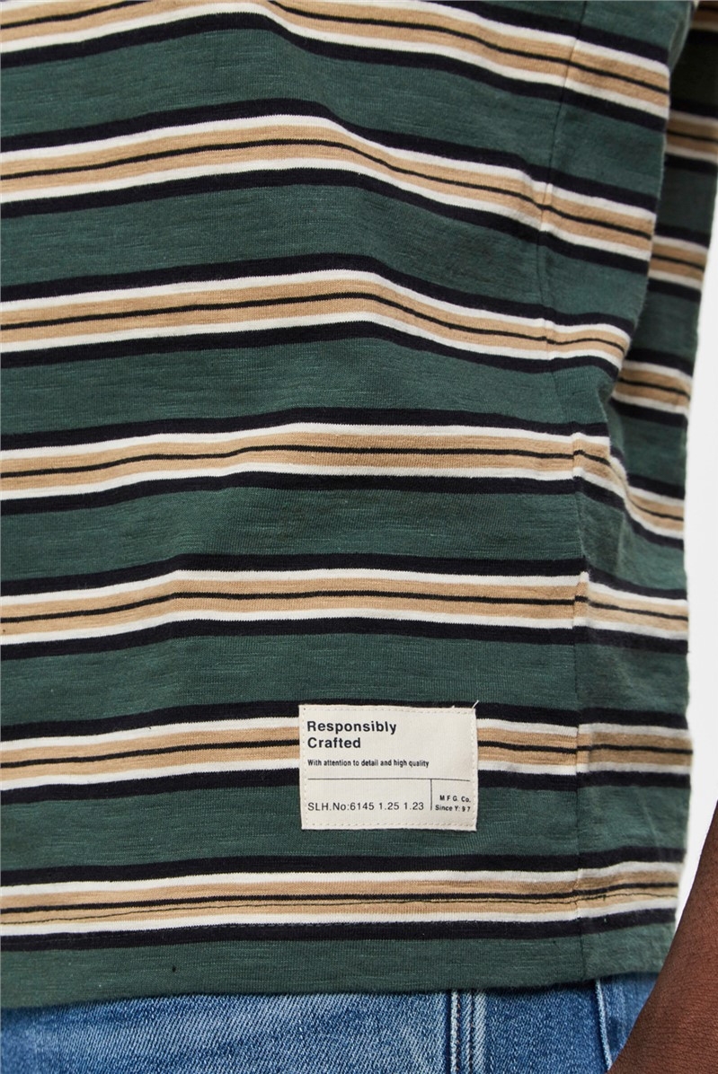 Striped T-Shirt in Green