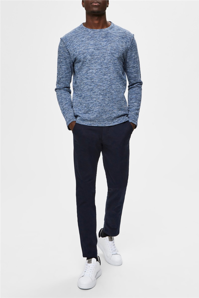 Jay Crew Neck Sweater in Blue