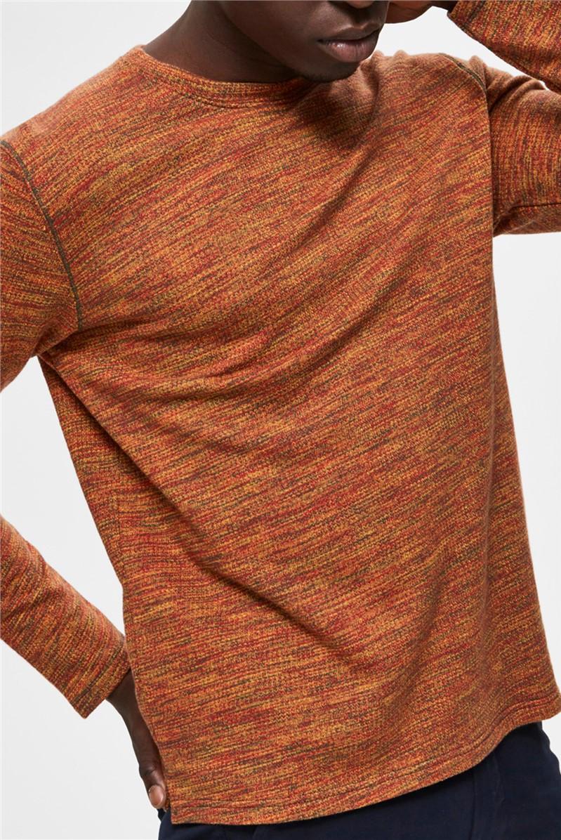 Jay Crew Neck Sweater in Orange