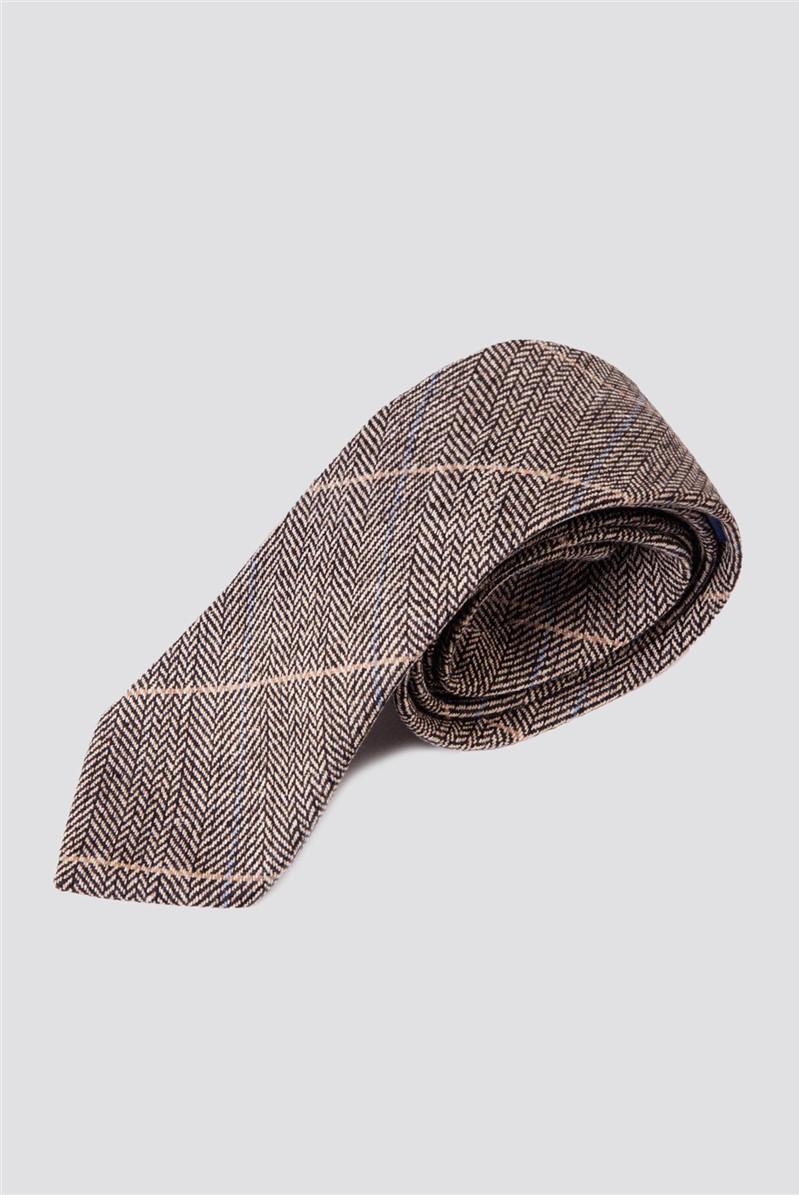DX7 Tan Check Tie