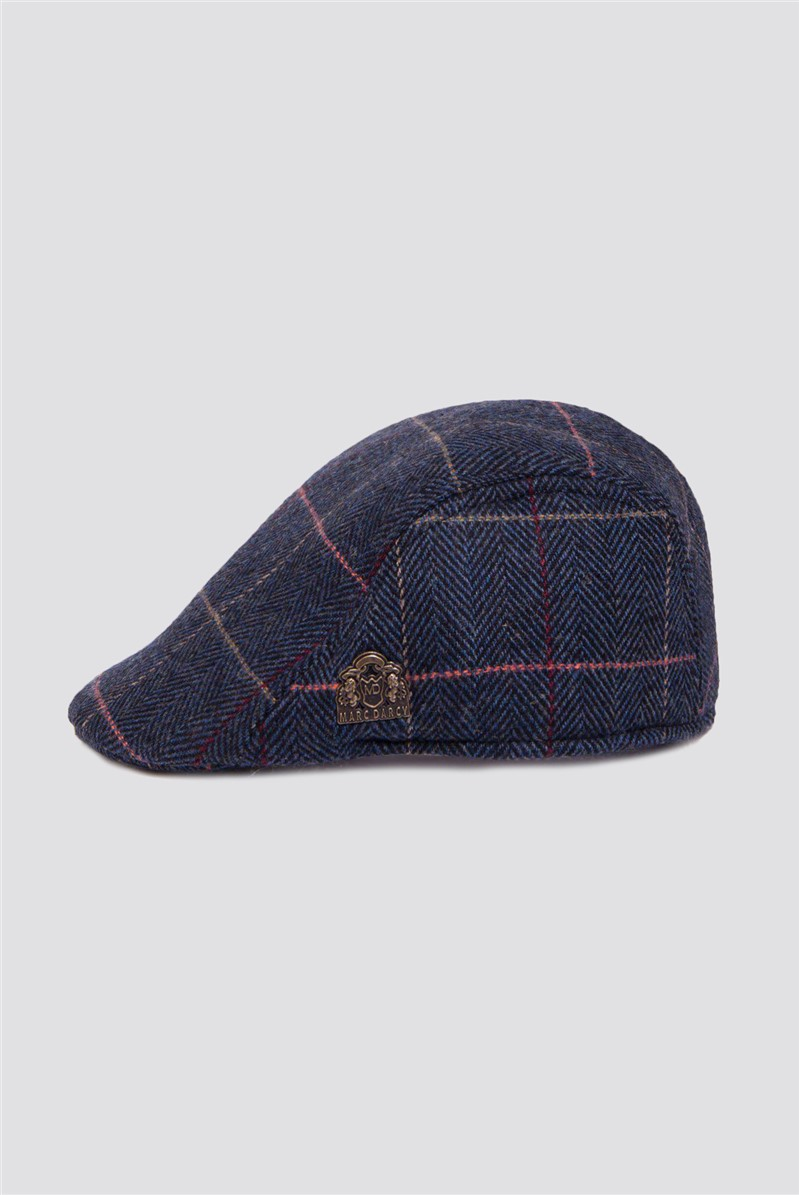 Eton Navy Flat Cap