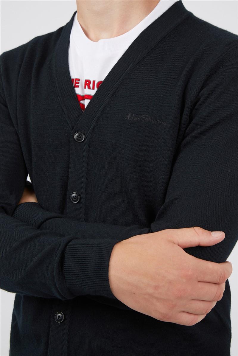 Black Signature Merino Cardigan
