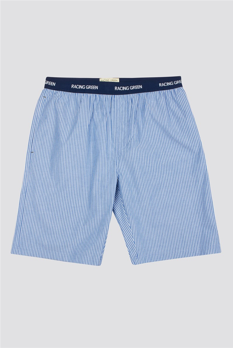 Blue New Cas Striped Lounge Shorts