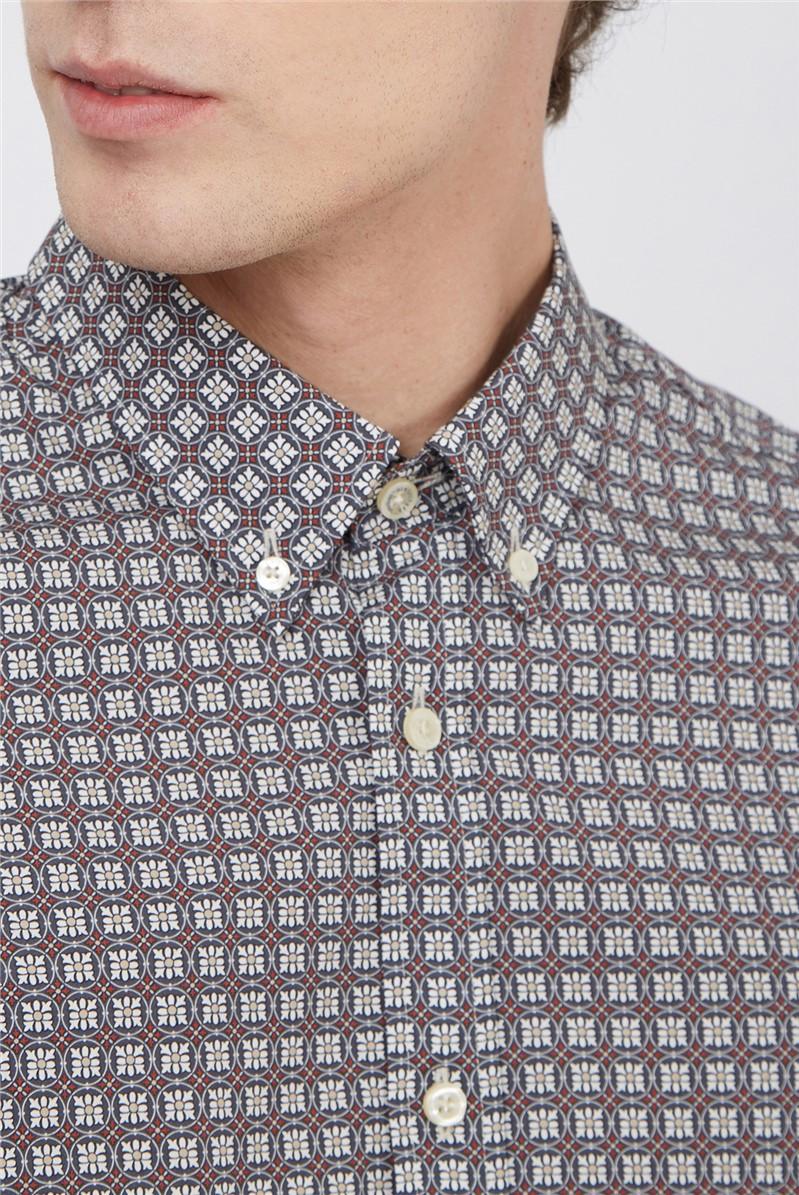 Ivory Mini Foulard Print Shirt