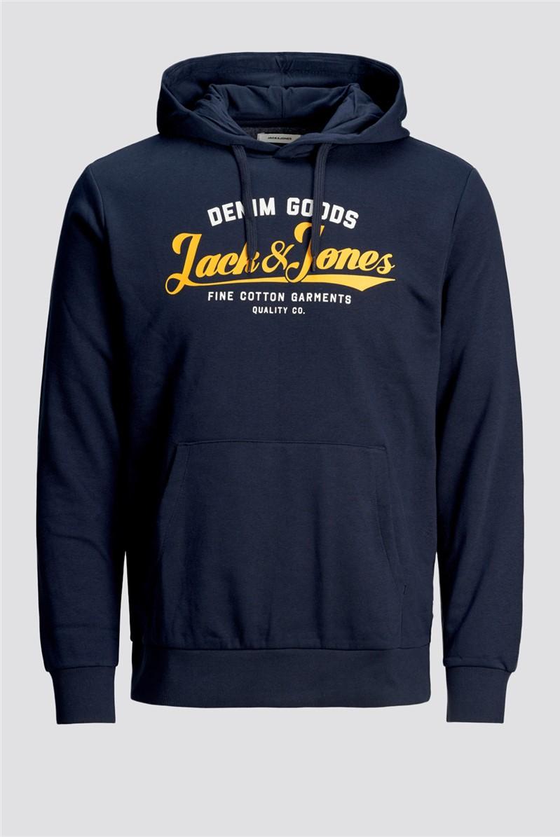 JACK & JONES Navy Logo Hoody